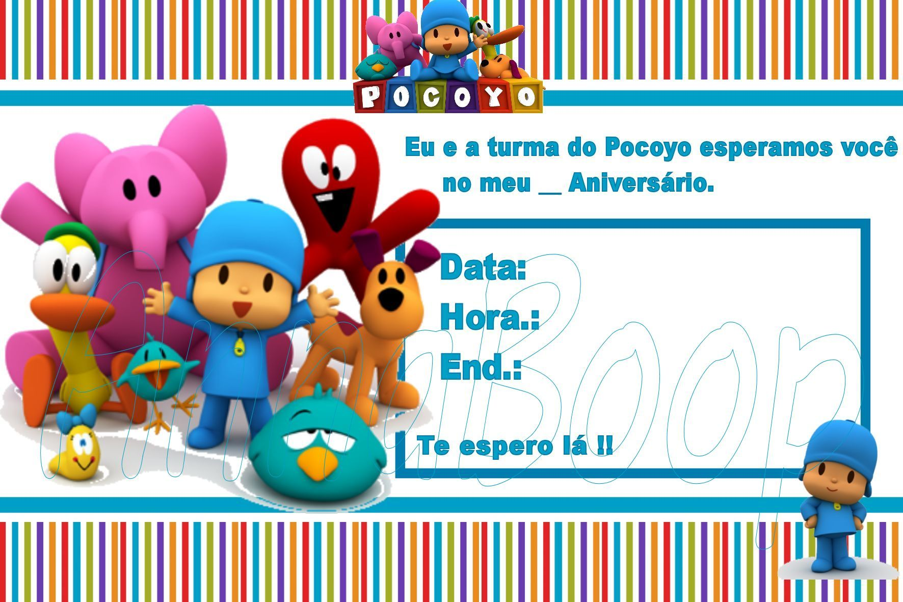 Well-known Festa Pocoyo | Meu Menino WN51